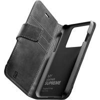 Cellularline Supreme kožené pouzdro Apple iPhone 13 Pro černé